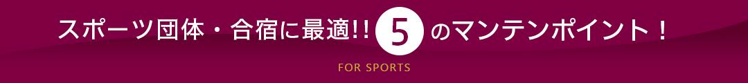 スポーツ・同好会のグループ旅行に最適!5つのマンテンポイント